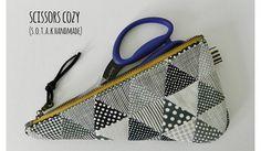Tutorial: Zippered scissors pouch
