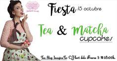 Fondart y Tea shop Imagina-té te invitamos a nuestra fiesta de Tea & Matcha Cupcakes. Una combinación increíble que no dejará indiferentes a tus sentidos. Te apuntas??? #tea #matcha #cupcakes #teaparty #fiestacupcakes