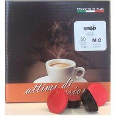 SNEP MIO Capsule di caffè (A modo mio compatibili)  Miscela di caffè 100% Arabica, espressione del classico caffè all'italiana, per clienti particolarmente esigenti. Aroma intenso gusto morbido e delicato, a basso contenuto di caffeina che si arricchisce con una il prezioso Ganoderma lucidum extrat (Reishi) (200 ml per caffè) può contribuire ad un energico risveglio dei sensi e al miglioramento dei processi ossidativi