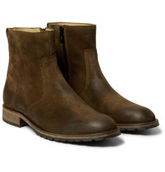 Belstaff - Atwell Burnished-Leather Boots | MR PORTER