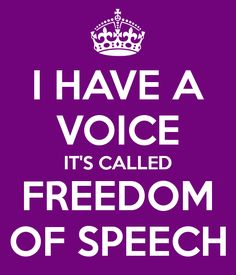 Freedom Of Speech, Calm
