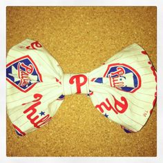 Phillies Hair Bow by whnNdoubtPUTaBOWonIT on Etsy, $8.00