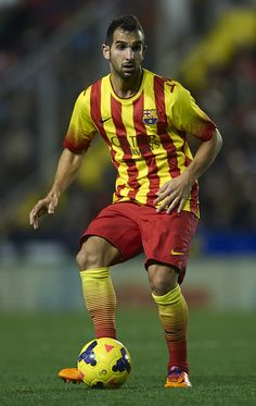Montoya of Barcelona in action during the la Liga match between Levante UD and FC Barcelona at Ciutat de Valencia on January 19, 2014 in Valencia, Spain.