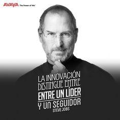 La innovación distingue entre un líder y un seguidor @Avaya_latam #Frases #Citas