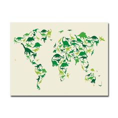 Have to have it. Michael Tompsett Dinosaur World Map II Canvas Art - $49.95 @hayneedle