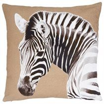 """Zebra Photo Real Pillow Cover – 18"""" 18"""""""