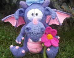 pet dragon, crochet pattern by mala designs ®