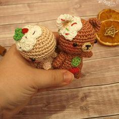 Amigurumi gingerbread man and teddy free crochet patterns