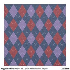 http://www.zazzle.com/argyle_pattern_purple_and_red_fabric-256549410549937899
