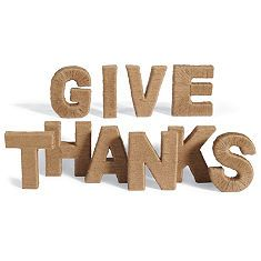 Give Thanks Jute Letters
