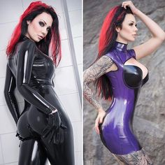 Catsuit or dress? 😉💕 Going live on Facebook in about 4 hours, link in bio 👆🏼✨ #latex #fetishmodel #latexmodel #dress #catsuit #transparent #gloves #alternative #inkedgirl #inkedbabes #tattooed #tattooart #girlswithink #legtattoo #sleeve #piercings #model #girl #starfucked