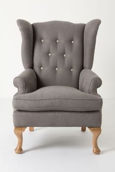 Delicieux Howell Wingback, Linen Stuffed Chairs At The Dining Room Table. Love.