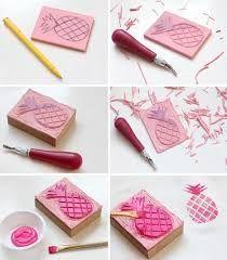 Resultado de imagen para como hacer sellos caseros de goma