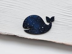 Whale brooch Wooden brooch whale Blue whale pin Fish by MagicTwirl  Materials: wood, pin, varnish, acrylic paints, metal