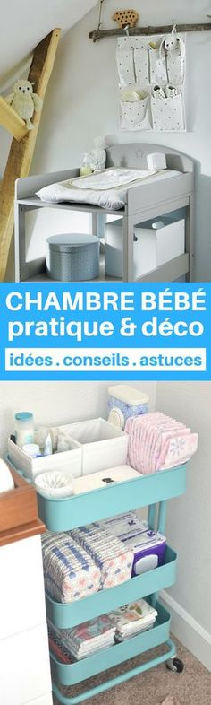 """17 astuce…""""> A baby room both practical and decorative? It& possible> 17 tips from parents to discover! Baby Boy Nursery Room Ideas, Baby Bedroom, Baby Boy Nurseries, Kids Bedroom, Diy Zimmer, Vintage Nursery, Bedroom Storage, Diy Room Decor, New Baby Products"""