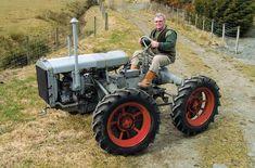 Steve Watts on his 1932 Massey-Harris GP four-wheel drive tractor.