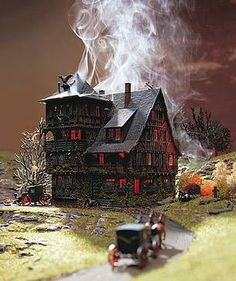 Vollmer N Scale Vampire Villa Haunted House Kit at BLW.