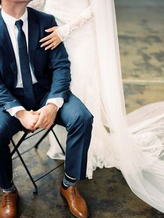 Wedding Suits modest wedding dress with long sleeves and a straight skirt from alta moda (modest bridal gown) - Wedding Couples, Trendy Wedding, Wedding Pictures, Dream Wedding, Wedding Things, Groom Attire, Groom And Groomsmen, Groomsmen Shoes, Navy Suits Groomsmen