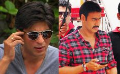 Shahrukh khan wishes ajay devgn  for more visit http://vizdoo.com