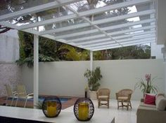 Pergola Attached To Roof Pergola With Roof, Pergola Shade, Patio Roof, Diy Pergola, Indoor Outdoor Living, Outdoor Spaces, Outdoor Decor, Roof Design, House Design