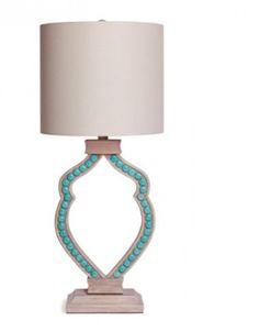 Organic Turquoise Lamp