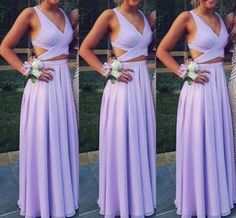 Beautiful Prom Dress, two piece prom dress long chiffon prom dress long formal gowns for teens lavender prom dress a line long sexy women formal gowns long party dress Meet Dresses Lavender Prom Dresses, Elegant Bridesmaid Dresses, Prom Dresses Two Piece, Prom Dresses 2018, Beautiful Prom Dresses, Pretty Dresses, Dress Long, Light Purple Prom Dress, Chiffon Prom Dresses