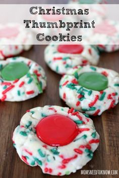 My children look forward every year to helping me make these Christmas Thumbprint Cookies because instead of fruit, we use icing in the middle!