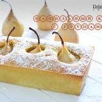Ванильный кекс с грушами. Рецепт осеннего десерта