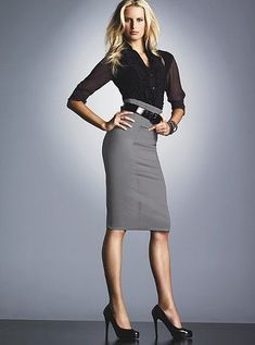 Black hobble skirt | ladies in skirts and heels | Pinterest ...