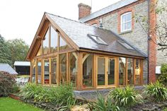 45 Best And Beautiful Balcony Design And Decor Ideas Bungalow Extensions, Garden Room Extensions, House Extensions, Cottage Extension, House Extension Design, House Design, Oak Framed Extensions, Glass Extension, Extension Ideas