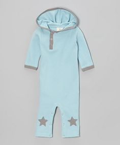 Take a look at this Skye Star Hooded Organic Thermal Playsuit - Infant by kate quinn organics on #zulily today!