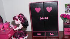 Como fazer guarda-roupa #2 para boneca Monster High, Barbie e etc