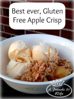 Gluten free baking with a Gluten free Apple Crisp recipe. You start with a gluten free apple pie filling and then make this delicious crumb topping, bake...