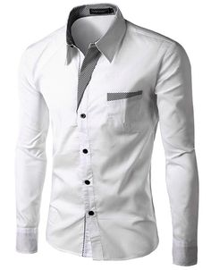 Mens Shirts Casual Slim Fit Stylish Hot Dress Shirts Color:White,Black,Red,Navy blue Size:M-L-XL-XXL