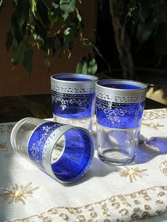 Sip Moroccan mint tea from the pretty tea glasses and imagine you are on Morocco's Atlantic coast in your own seaside retreat. Find our selection of tea glasses http://www.maroque.co.uk/catalog.aspx?p=00450