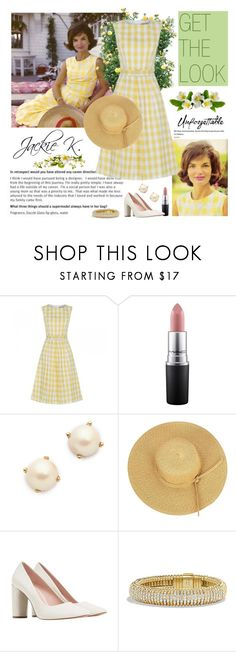 """Jackie Kennedy - Get the look"" by dezaval ❤ liked on Polyvore featuring MAC Cosmetics, Kate Spade, David Yurman and vintage"