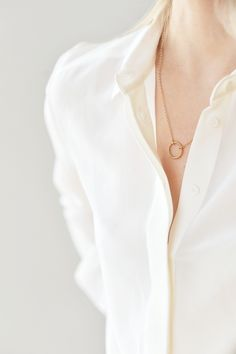 simple blouse & pendant