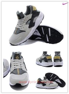 sports shoes f47d2 276fa Fast Shipping To Buy Gray   white   black Nike Air Huarache 318429-005  19DKA3