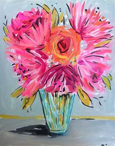 Peonies Rose Paintinghome decor.abstract.. by DevinePaintings