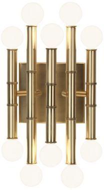 Jonathan Adler Meurice Antique Brass Metal Wall Sconce - #EUX3483 - Euro Style Lighting $265