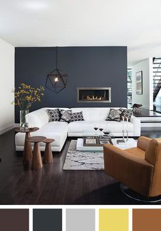 Denim blue and grey living room Grey living rooms Living rooms