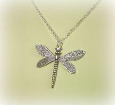 Game of Thrones Sansa Stark Dragonfly Necklace Antique Silver. $22.00, via Etsy.