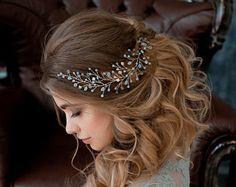 Свадебный гребень из речного жемчуга / свадебное украшение