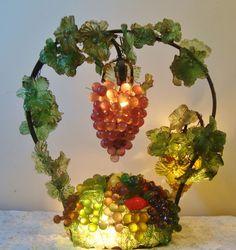 Czech Fruit Basket Table Lamp 1920s Art Deco Etsy