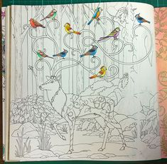 Colouring Walkthrough: Creating a Background in Enchanted Forest. – La Artistino – Peta Hewitt