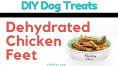 Why DIY Dehydrated Chicken Feet? That seems like a weird, gross choice, right? There are a lot of reasons we choose to give our Chihuahuas Dehydrated Chicken Feet. Here are a few benefits: Dehydrated Chicken Feet Benefits Entirely edible and safe for chewing and digestion Promote healthy chewing which helps keep teeth clean (in addition […] Diy Dog Treats, Homemade Dog Treats, Dog Treat Recipes, Dog Food Recipes, Dehydrated Chicken, Raw Chicken, Dog Nail Clippers, Chicken Treats, Dog Chews