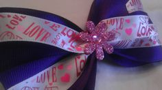 Groovy Purple Love Hair Bow by AmalieBowtique on Etsy, $4.99