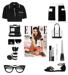 """b/w mini"" by im-karla-with-a-k ❤ liked on Polyvore featuring Miu Miu, STELLA McCARTNEY, NARS Cosmetics, Givenchy, Lord & Berry and Morphe"