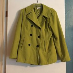 New York & Co pea coat New York and Company pea coat. Needs dry cleaned. Small mark on left collar barely noticeable but I included a picture of it. New York & Company Jackets & Coats Pea Coats