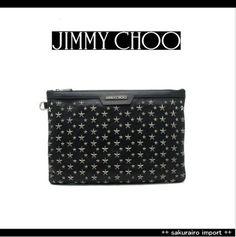 ●人気●ジミーチュウ レザー 星スタッズ 機能的 クラッチバッグ jimmy choo